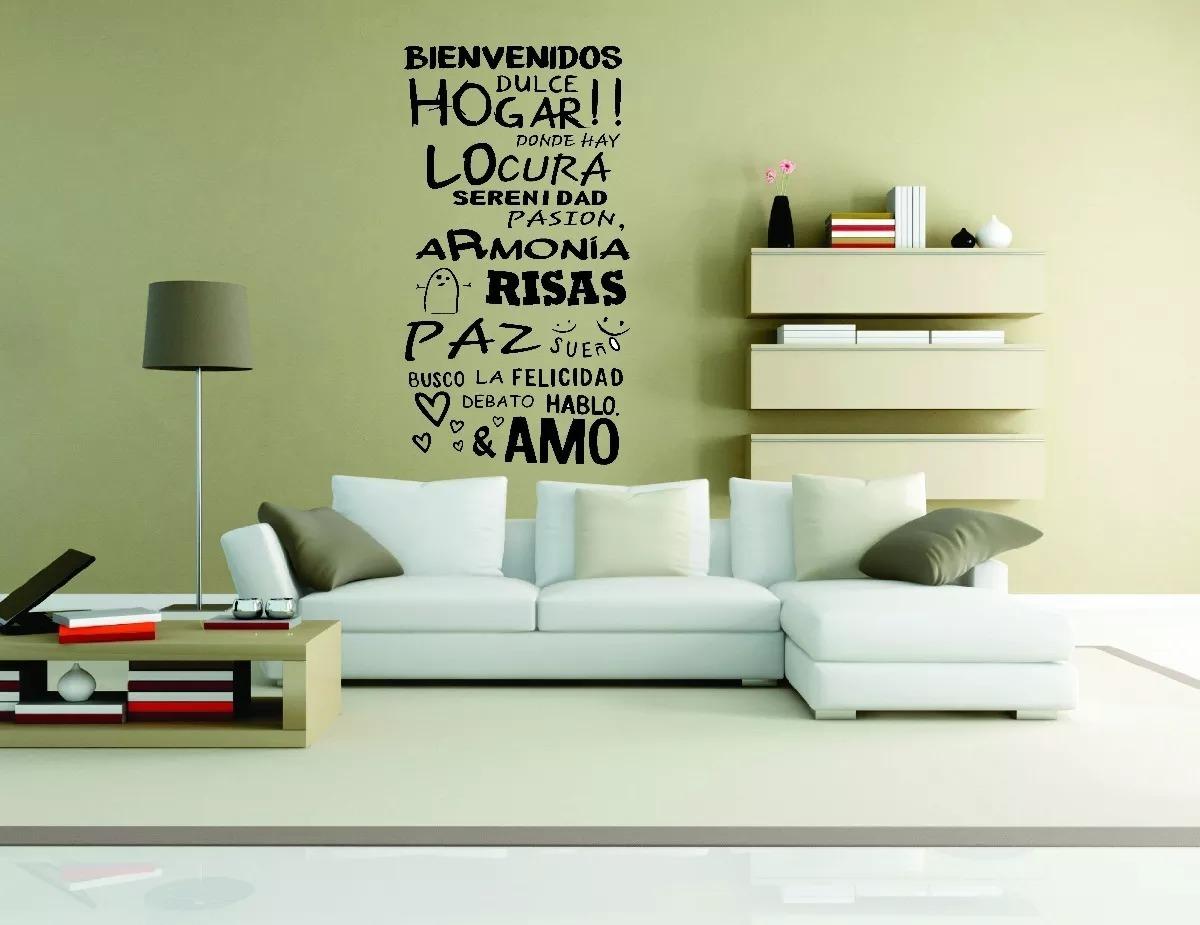 Vinilo Decorativo Paredes Frases Hogar Living Comedor