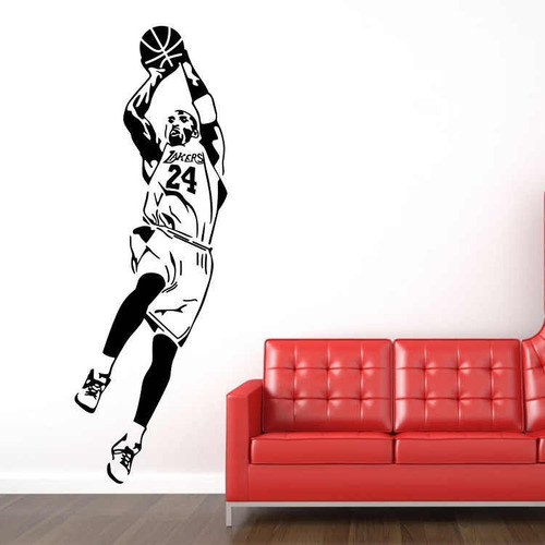 vinilo decorativo pelota basquet nba kobe bryant  150x58cm