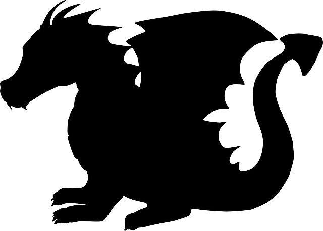vinilo decorativo pizarra dragon infantil silueta 80 x 60 cm 214
