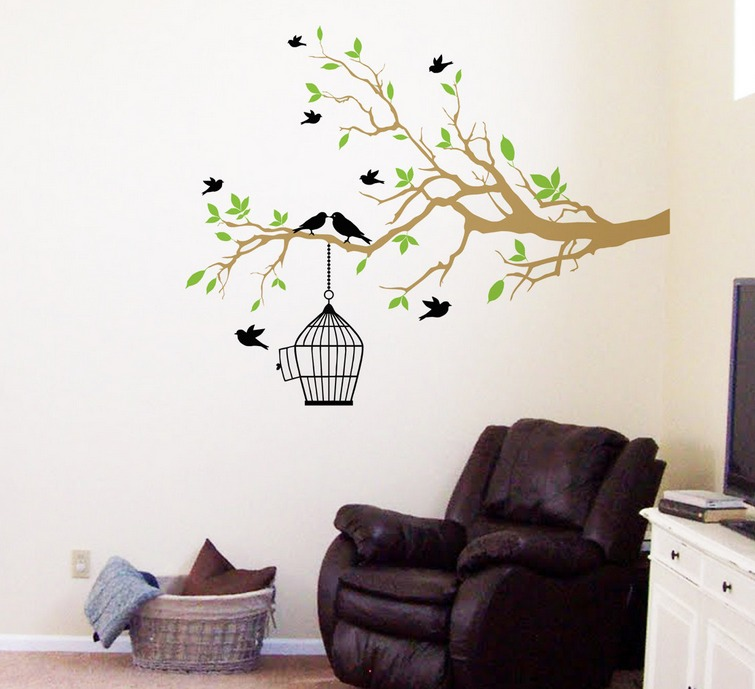 Vinilo decorativo rama sala recamara vinil sticker for Sala vinilo