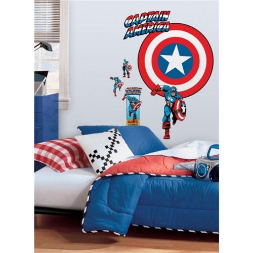 vinilo decorativo reutilizable capitán américa rmk1619slg