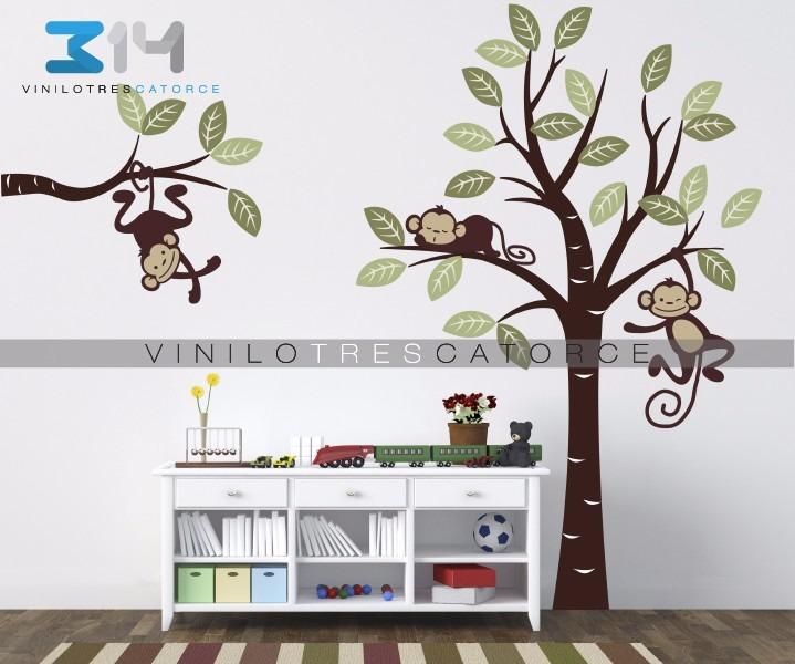 Vinilo decorativo set changuitos 08 para recamara for Vinilos para recamaras infantiles