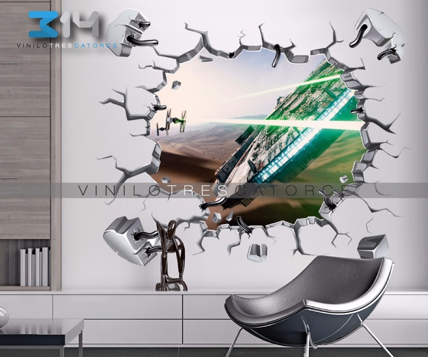 Vinilo decorativo star wars i21 muro roto halc n for Mejores apps de diseno de interiores