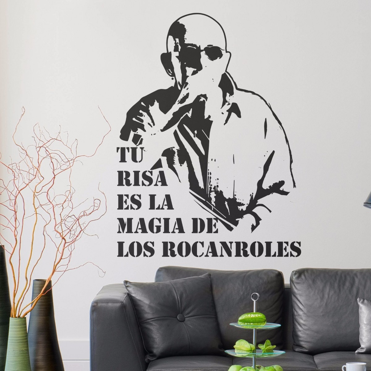 Vinilo decorativo stencil indio solari redondos frase for Vinilos pared entera