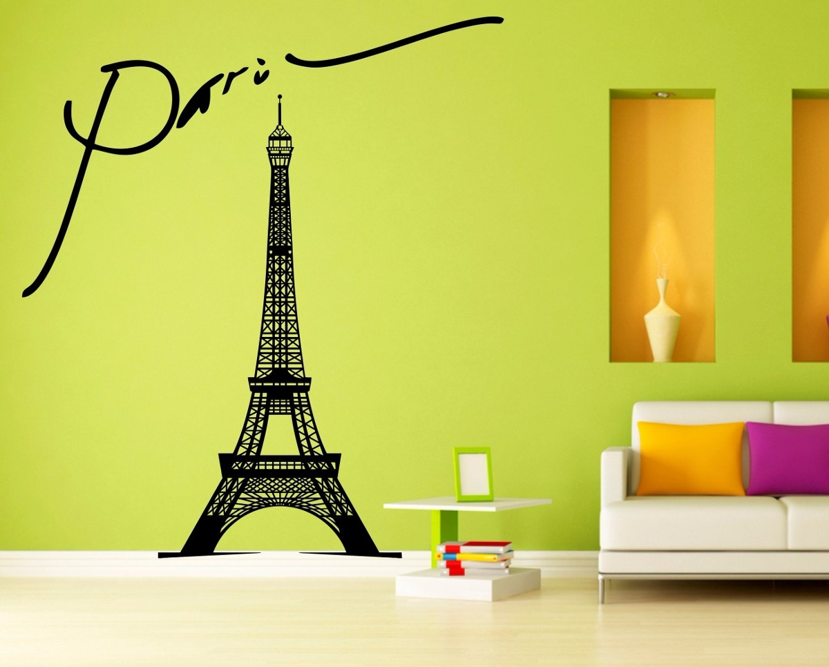 Vinilo decorativo torre eiffel grande paredes viniles s for Vinilos decorativos adhesivos pared