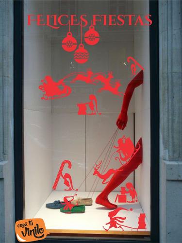 vinilo decorativo vidriera plancha de fiestas fin de año