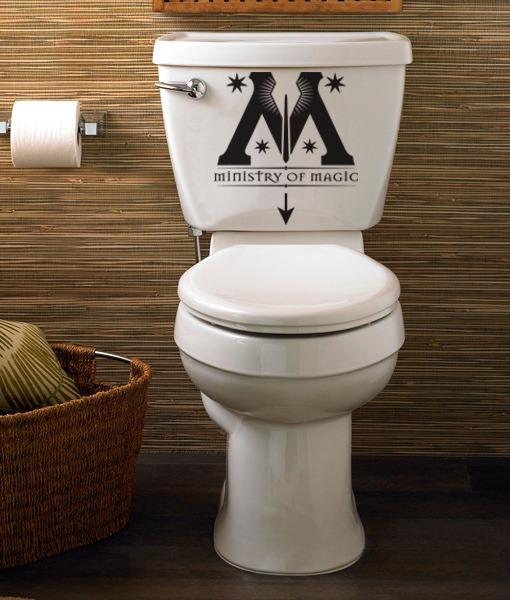 Vinilo decorativo wc dise o ministerio de magia harry Vinilos pared harry potter
