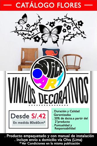 vinilo decorativo.catálogo flores.paredes.viniles.stickers