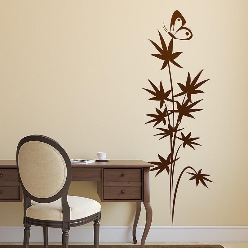 156b32beecc vinilo decorativos naturaleza diseño flores floral mariposa. Cargando zoom.