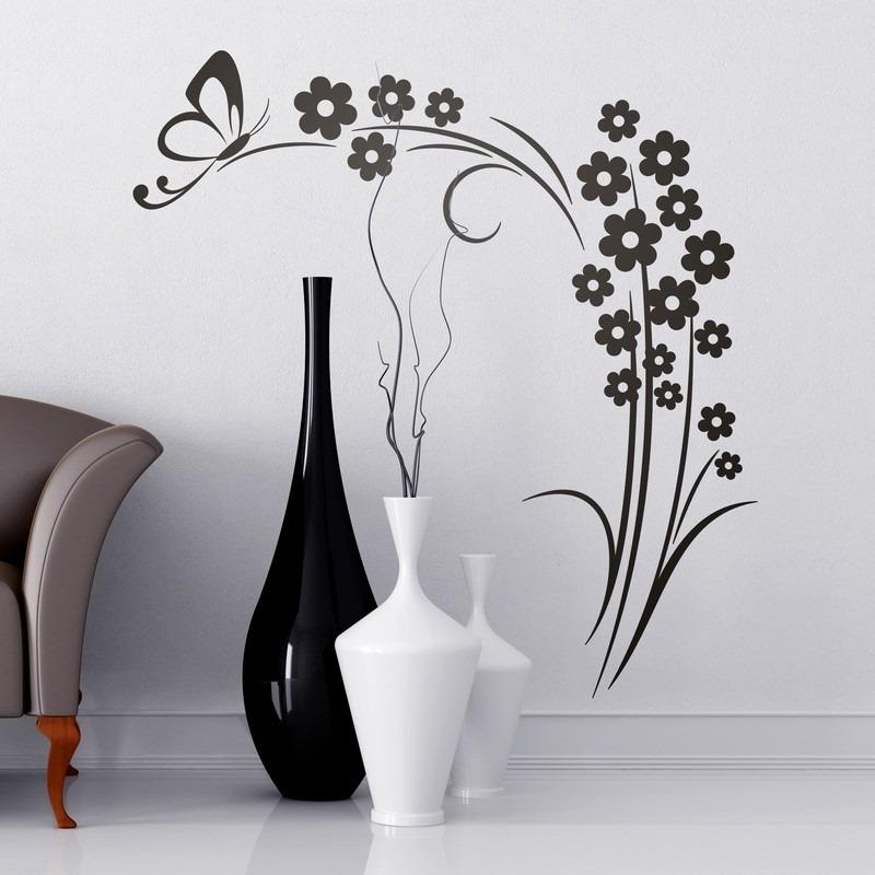 4a0a29f6d7c vinilo decorativos naturaleza diseño mariposa floral flores. Cargando zoom.