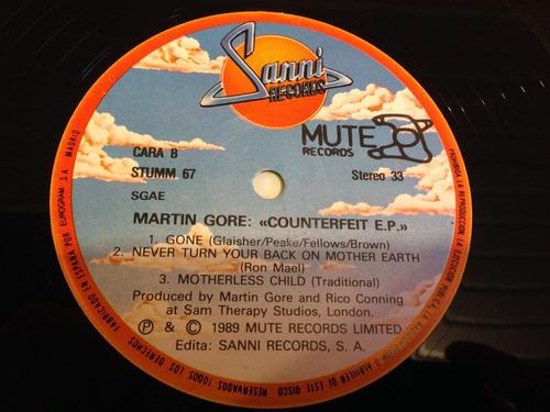 vinilo depeche mode - martin l gore. / conterfeit e.p