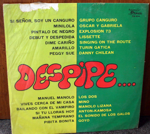 vinilo despipevarios1972 lp