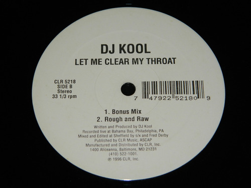 vinilo dj kool let me clear my throat remixes