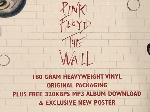 vinilo doble, the wall, pink floyd. nuevo + mp3 + póster