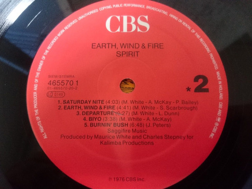 vinilo earth wind and fire - spirit