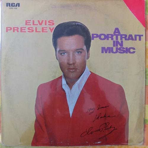 vinilo elvis presley  a portrait in music