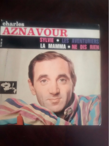 vinilo ep  de charles aznavour - sylvie  ( t91