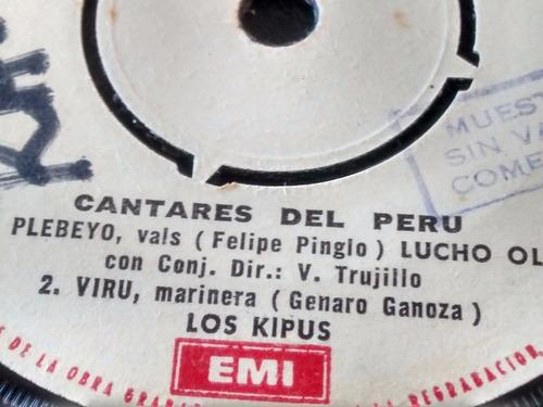 vinilo ep de los kipus - cantares del peru ( e23