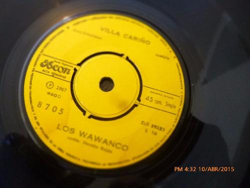 vinilo ep -- de los wawanco  - plena española ( a15