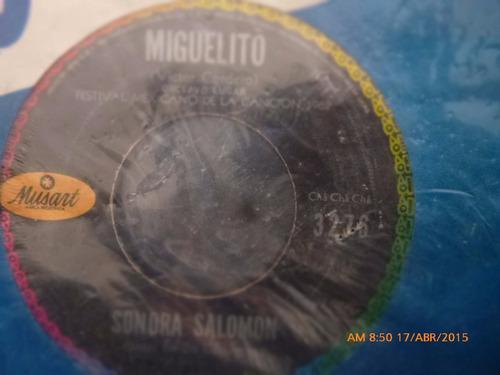 vinilo ep  de sonora salomon -preso   (a802