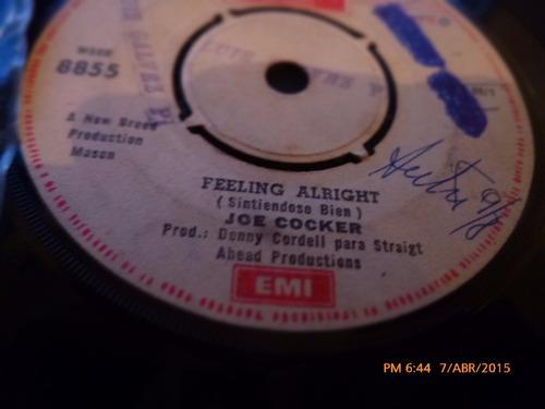 vinilo ep  -  joe cocker  --feeling alright( a22
