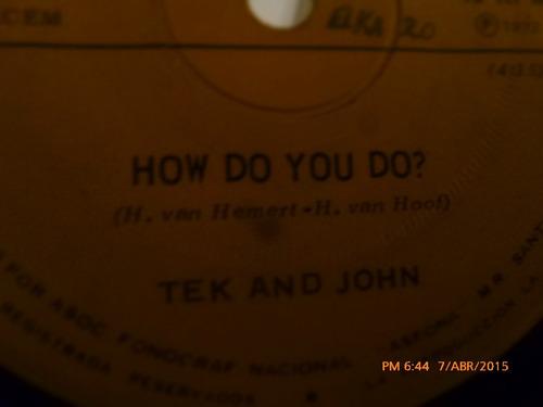 vinilo ep   - tek and john -- how do you do  ( a21