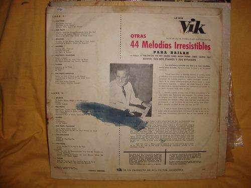vinilo erwin sus dos pianos 44 melodias para bailar sl p2