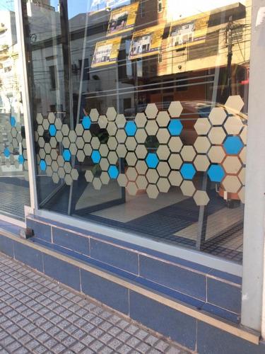 vinilo esmerilado ploteo para vidrio - vidrieras -oficinas-