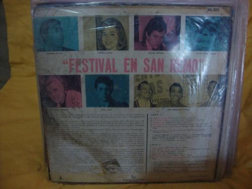 vinilo festival en san remo 1964 rivas prieto ortega march