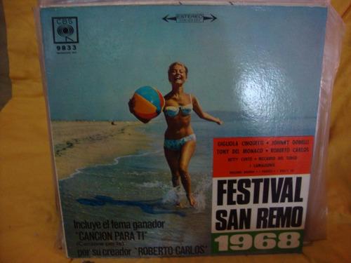 vinilo festival san remo 1968 dorelli del monaco cinquetti