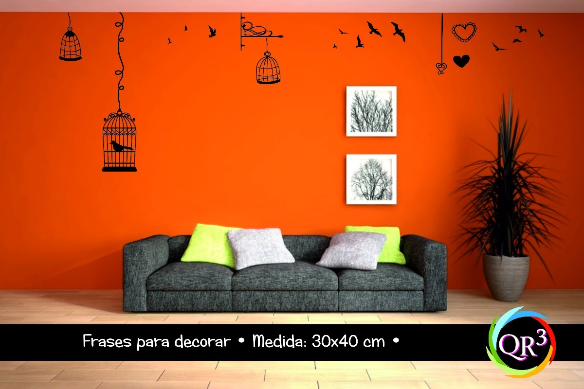 Vinilo Frase Para Decorar Pared 30x40 Cm 1 Color A Elección