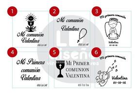 Vinilo Frases Transparentes Comunión 10 Unidades