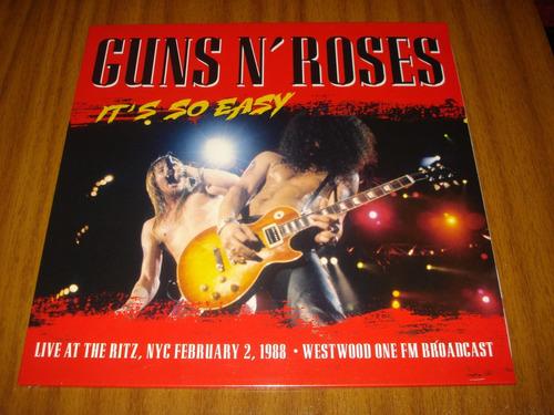vinilo guns and roses / it's so easy (nuevo y sellado)