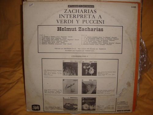 vinilo helmut zacharias interpreta a verdi puccini sl