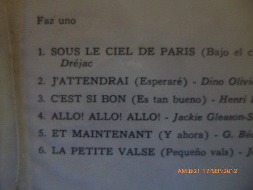 vinilo henri rene paris ama a los amantes (u684