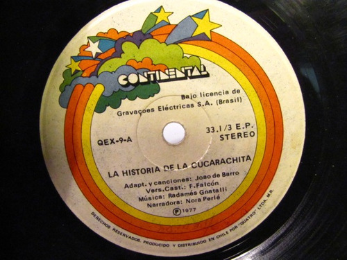 vinilo historia de la cucarachita 1977