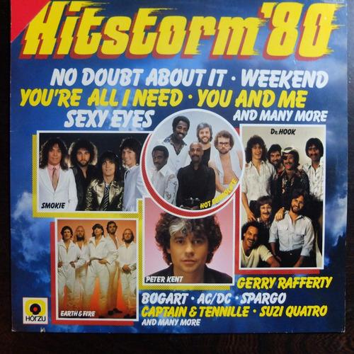 vinilo  hitstorm'80 ac/dc earth & fire otros bte 122