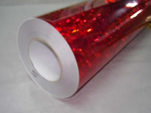 vinilo holografico rojo carteles  [sm514]