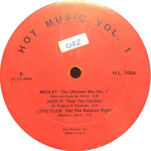 vinilo hot music vol 1