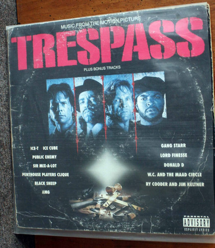 vinilo ice cube & ice-t - trespass 1992 music motion picture