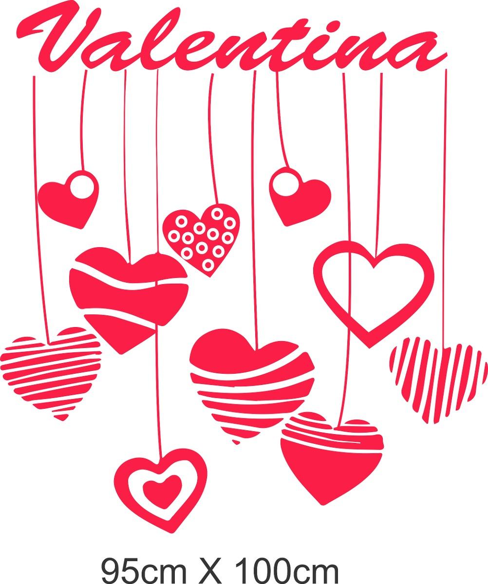 Vinilo Infantiles Corazones Decoracion Wall Stickers 68810 En - Corazones-de-decoracion