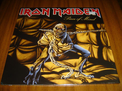 vinilo iron maiden / piece of mind (sellado) made in eu