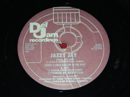 vinilo jazzy jay def jam cold chillin' in the spot