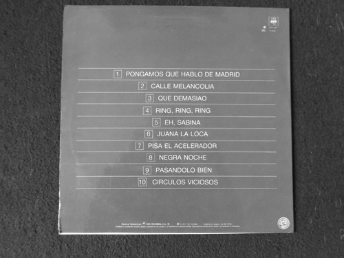 vinilo joaquin sabina pongamos que hablo de madrid 1987