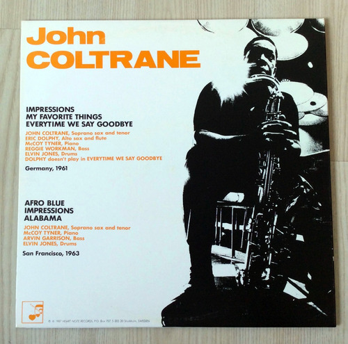 vinilo john coltrane - john coltrane (suecia, 1987)