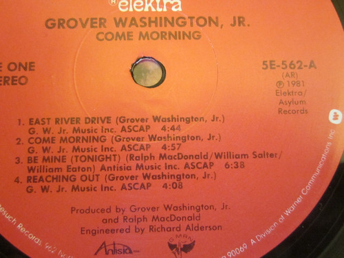 vinilo joya 1981 grover  wasshington jr  come morning