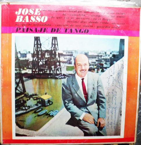 vinilo l p./ josé basso / paisaje de tango./ autografiado