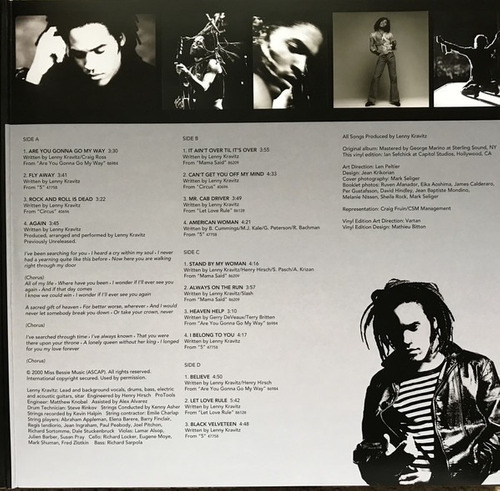vinilo lenny kravitz (greatest hits) sellado (vinilohome)