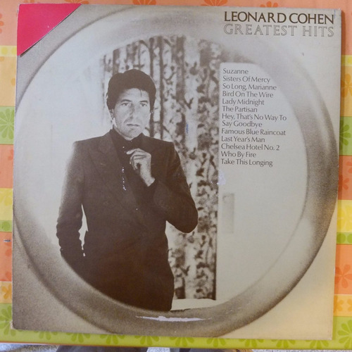vinilo leonard cohen  greatest hits