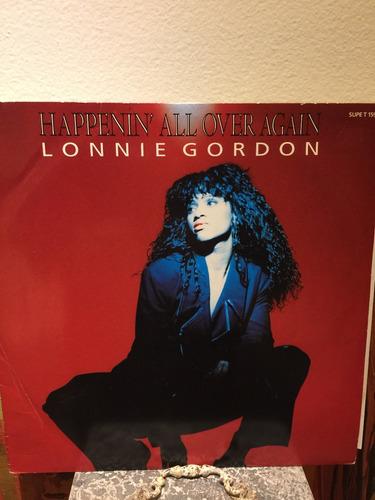 vinilo-lonnie gordon - happenin' all over again 12inch